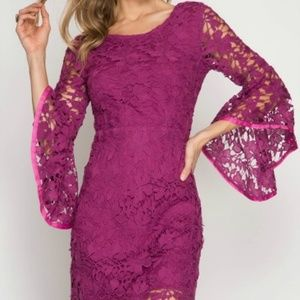 Dresses & Skirts - NEW Magenta Lace Dress